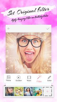 Birthday Slideshow Video Maker With Music screenshot 1
