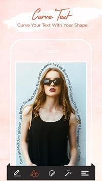 Curvy Text on Photos poster