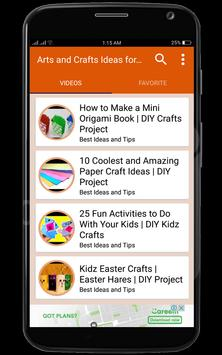 Arts and Crafts Ideas for Kids screenshot 1