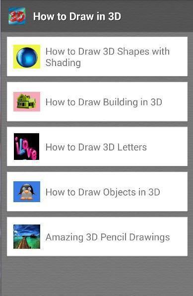 how to draw in 3D for Android - APK Download