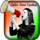 Caller Name Speaker icon