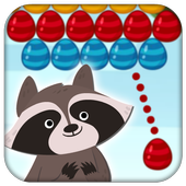 Raccoon Aim : Bubble egg Pop Shooter Game icon