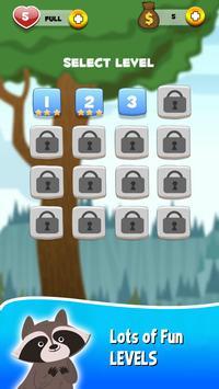 Raccoon Aim : Bubble egg Pop Shooter Game apk screenshot