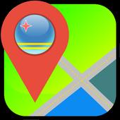 Aruba Map icon
