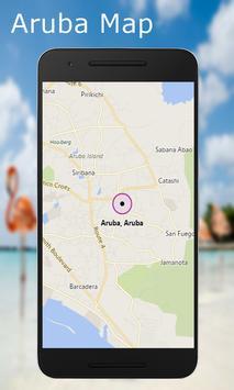 Aruba Map poster