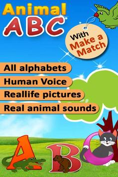 Kids Animal ABC Alphabet sound poster