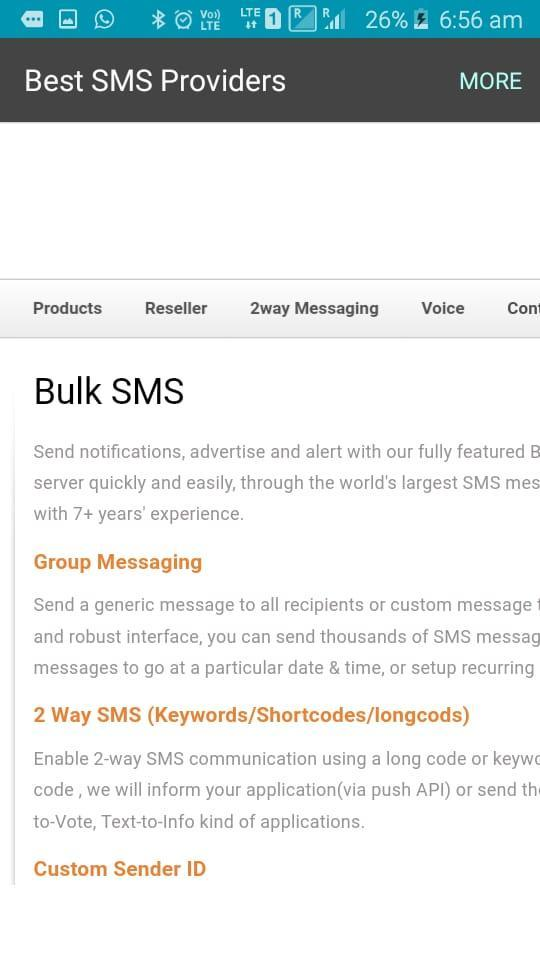 Best SMS Provider –Bulk SMS Services, SMS API for Android