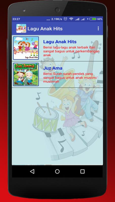Lagu anak hits for android apk download.