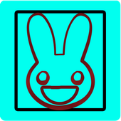 Jumping Square Bunny icon
