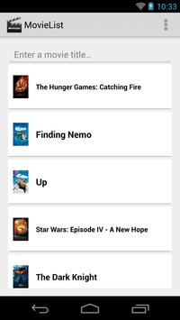 MovieList - Movie to-do list poster