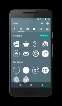 Flat White Icon Pack apk screenshot