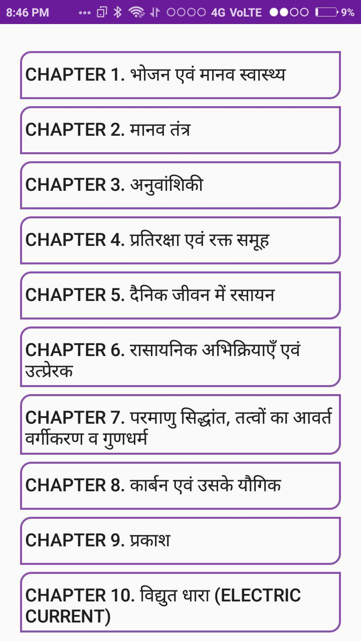 10th Class Science Notes in Hindi for Android - APK Download