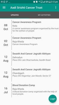Aadi Srishti Cancer Trust poster