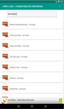 Lirik Lagu Band Melayu Indonesia screenshot 3