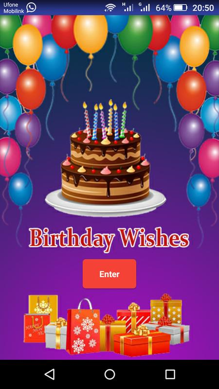 Birthday Wishes App Poster