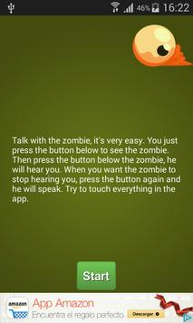 Talking Zombie Free poster