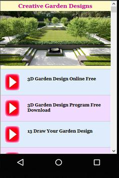 Creative Garden Designs apk screenshot