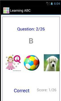 Learning Alphabets apk screenshot