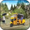 transporte passageiros destró rickshaw da estrada ícone