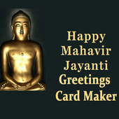 Mahavir Jayanti Greeting Maker For Wishes Messages icon
