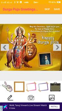 Durga Puja Greetings Maker For Wishes & Messages screenshot 10
