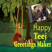 Hariyali Teej Greetings Maker For Teej Messages icon