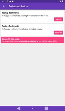 Mobile Bookmarks screenshot 18