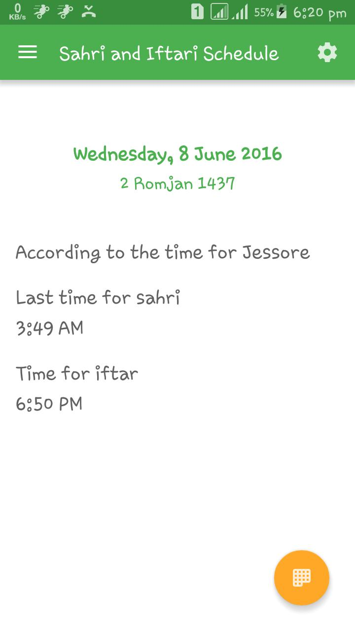 Sehri and Iftari Schedule for Android - APK Download