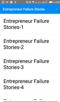 Entrepreneur Failure Stories apk screenshot