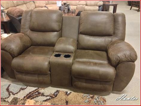Ashley Leather Loveseat Recliner poster