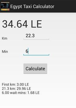 Egypt Taxi Calculator screenshot 1
