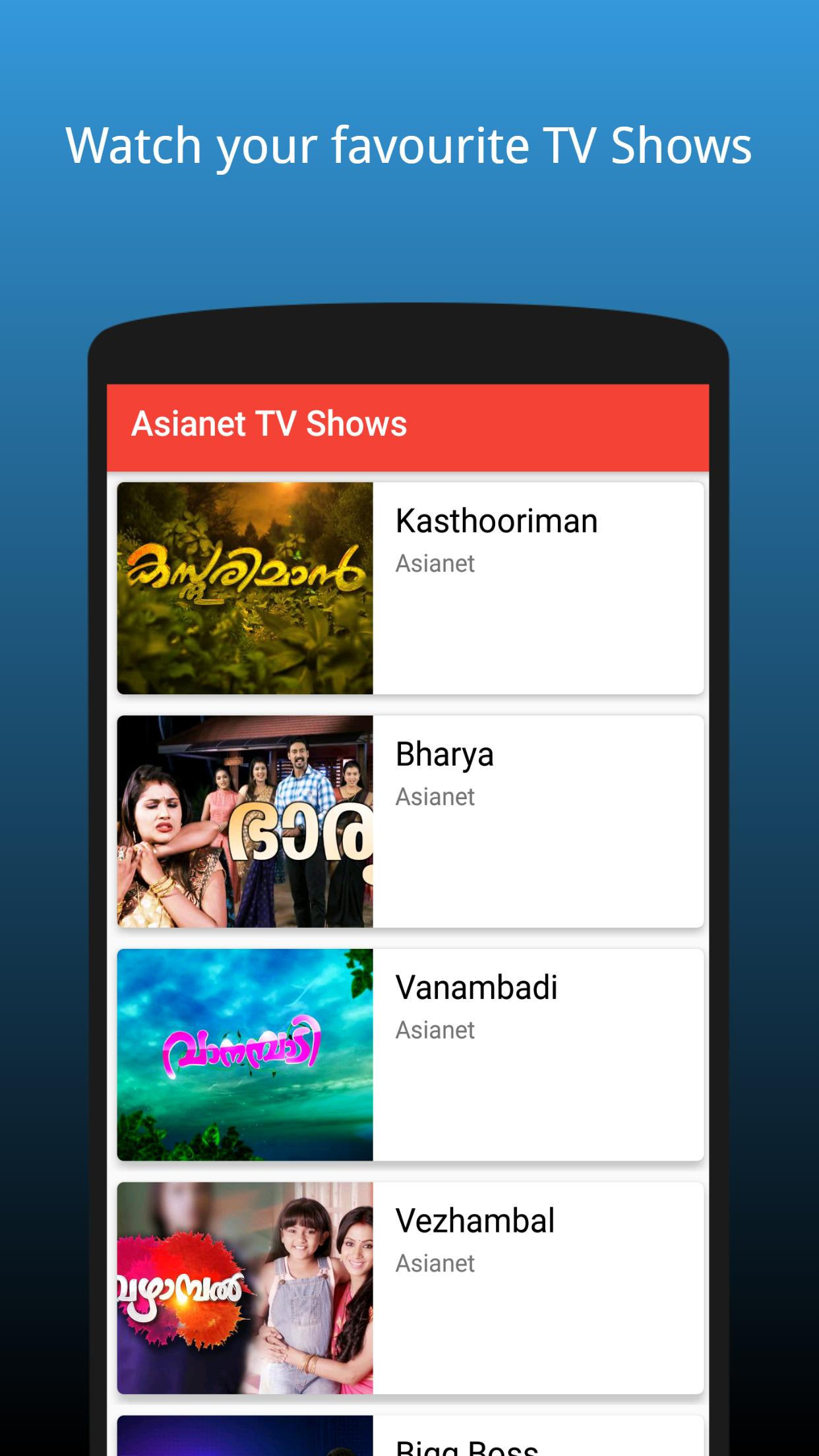 Malayalam TV Serials & TV Shows - 2018 | FREE for Android