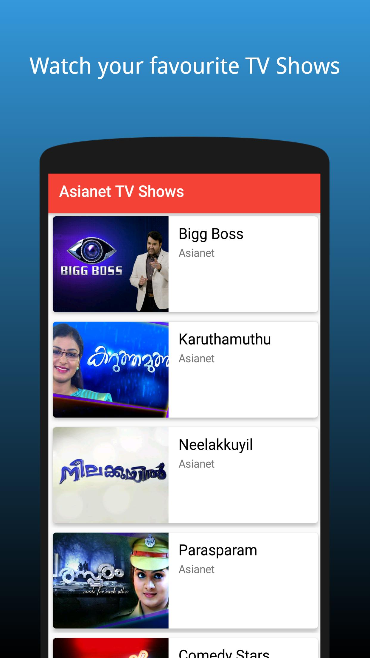 Malayalam Tv Shows List