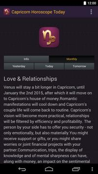 Capricorn Horoscope Today 2015 apk screenshot