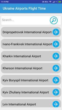 Ukraine Airports Flight Time poster