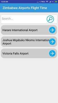 Zimbabwe Airports Flight Time poster