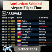 Amsterdam Schiphol Airport Flight Time icon