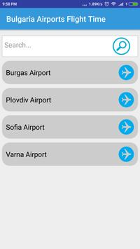 Bulgaria Airports Flight Time poster