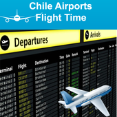 Chile Airports Flight Time icon