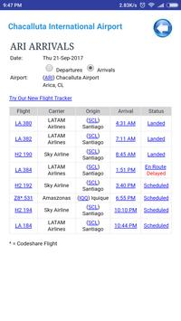 Chile Airports Flight Time screenshot 1