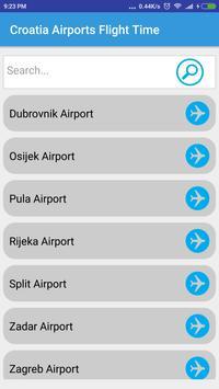 Croatia Airports Flight Time poster
