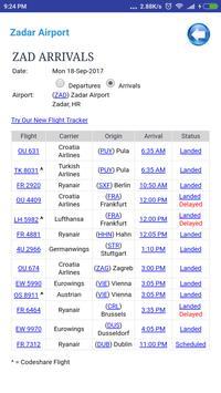 Croatia Airports Flight Time screenshot 3