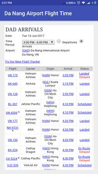 Da Nang Airport Flight Time poster