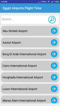 Egypt Airports Flight Time poster