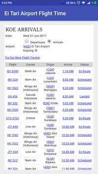 El Tari Airport Flight Time poster