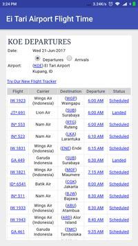El Tari Airport Flight Time screenshot 1