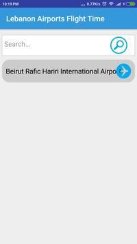 Lebanon Airports Flight Time poster