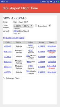 Sibu Airport Flight Time poster