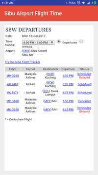 Sibu Airport Flight Time screenshot 1