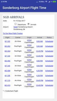 Sonderborg Airport Flight time poster